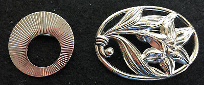Lot of 2 Sterling 16 grams Total Brooches