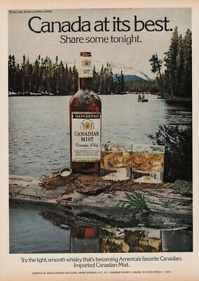 1977 Canadian Mist Whisky Canada At Its Best Turner Lake British Columbia BC Ad