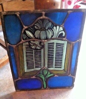 Reverse Painted Stained/Leaded Glass Church Panel (OLD)