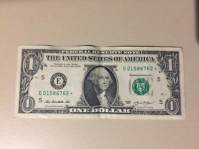 2013 $1 DOLLAR BILL ***STAR***Replacement NOTE US CURRENCY PAPER MONEY RARE!