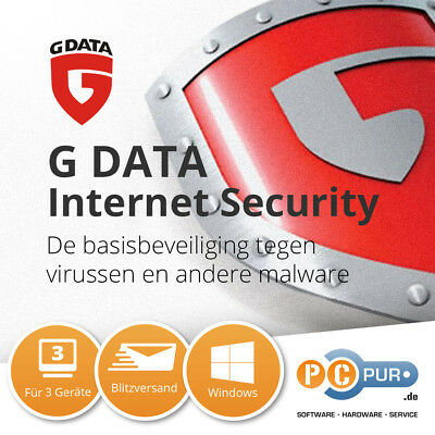 G Data Internet Security 2017 für 3 PC / 1 Jahr