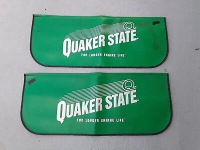 Vintage QUAKER STATE FENDER COVERS