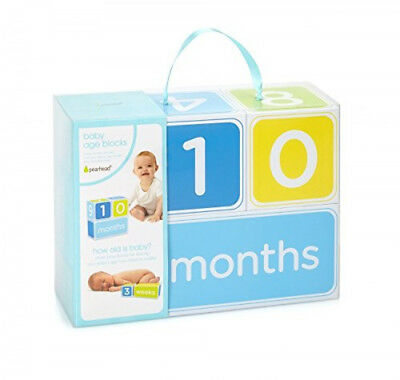 Pearhead Baby Age Photo Sharing Blocks Blue