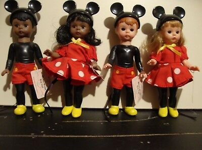 Madame Alexander McDonald's MICKEY & MINNIE MOUSE, Lot of 4 2004 dolls,DARLING!