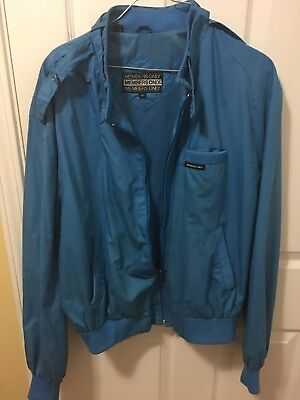 VINTAGE MEMBERS ONLY JACKET Turquoise Bright  SIZE 46  1980'S Costume