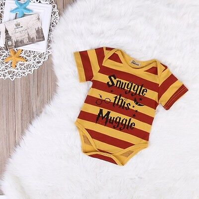 Brand New Boys / Girls Harry Potter Vest Muggle Baby Romper Babygrow Clothing