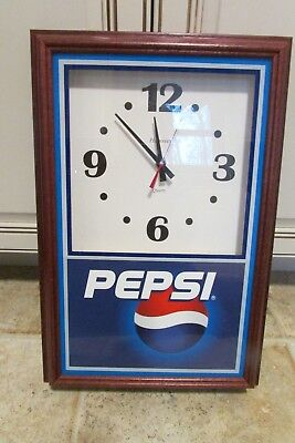 Vintage Hanover Quartz Pepsi Cola Pepsi Battery Operated Wall Clock