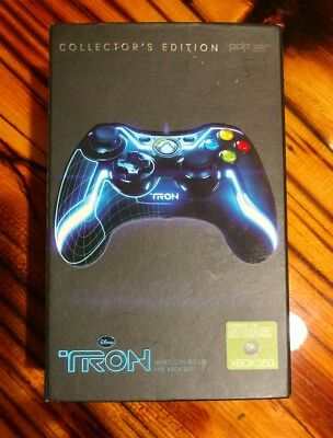 TRON Wired Controller for Xbox 360 Collectors Edition color blue new in box