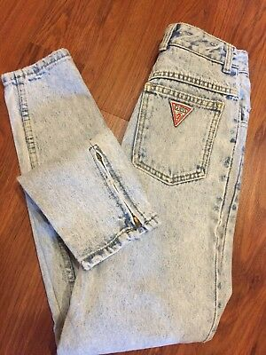 Girl Rare Vtg Guess Georges Marciano Acid Wash Jeans Sz 10 (22X25.5) High Waist