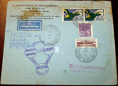 Brief Recife Brasilien SAF 1933 Friedrichshafen Graf Zeppelin via Condor (18