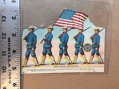 Lion Coffee Die-Cut Paper Trade Cards Soldiers Marching