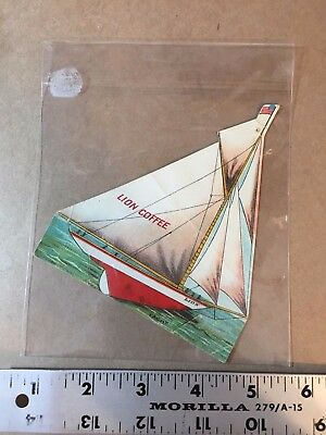 Lion Coffee Die-Cut Paper Trade Cards Yacht