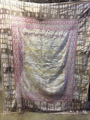 Antique Hand Embroidered Quilt from Swat Valley, Pakistan