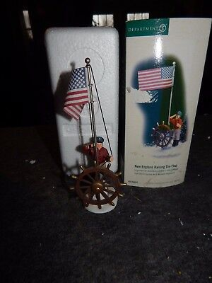Department 56 New England Village Raising The Flag 56.56687 In Box