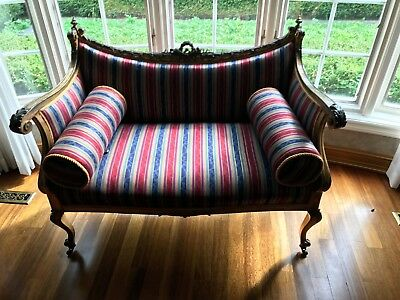 antique french sofa and chairs