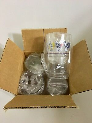 Vintage Pillsbury Doughboy Marching Band Parade Plastic Glasses 1991