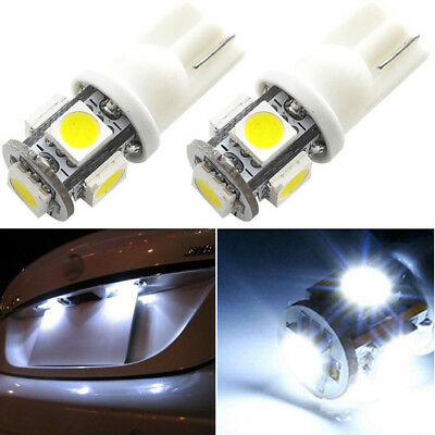 20pcs T10 5050 W5W 5SMD 194 168 LED White Car Side Marker Tail Light Lamp Bulbs