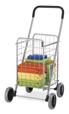 Grocery Folding Shopping Cart With Wheels Portable Laundry Rolling Utility