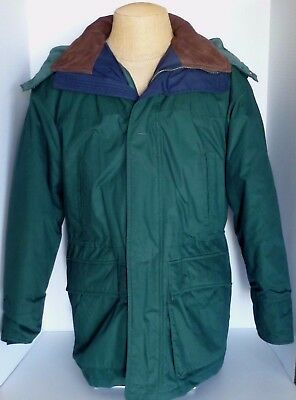 Aberdeen Collection Forest Green Feather Liner Size M Jacket Coat Removable Hood