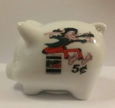 This Charming Mountain Dew Hillbilly #1 Piggy Bank