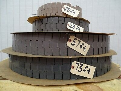 """Table Top Conveyor Chain On Pallet, 4½"""" Wide, 4 Pieces Sold As 1 Lot."""