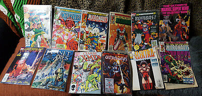 Lot of 13 Vintage Comic Books Various Titles/Conditions X-Men Micronauts Dazzler
