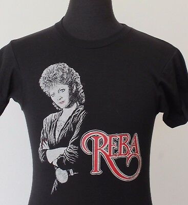 vintage 80s REBA McENTIRE soft thin T SHIRT small COUNTRY rock
