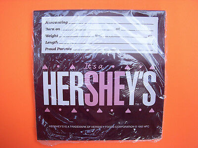 ⭐️Vintage 1992 Hershey's It's a SHE Girl 36 Candy Wrapper Baby Shower Hershey He