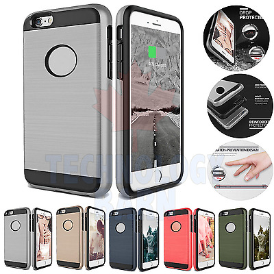 Ultra Hybrid Shockproof Protective Hard Case Cover fits iPhone 7 & iPhone 8