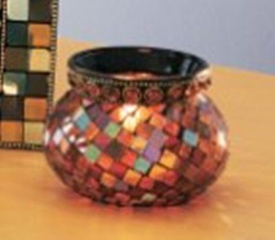 Partylite GLOBAL FUSION MOSAIC VOTIVE HOLDER - Brand NEW in original Box - P8367
