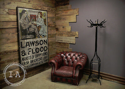 Antique HUGE Ithaca Sign Works Lawson & Flood Furniture Painted Advertising Sign