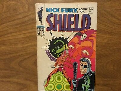 Nick Fury Agent Of Shield 5 Frank Springer 1968 Jim Steranko Cover Art