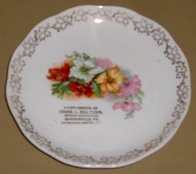 ADVERTISING PLATE CHAS. BALTZER GENERAL MERCHANDISE SHANKSVILLE PA JUNE 7th 1852