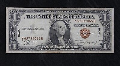 $1 HAWAII 1935A brown seal silver certificate Y69799065B one dollar FREE SHIP.