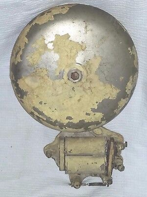 """10"""" FIRE/SCHOOL ELECTRIC BELL No. 1039 by FARADAY w/ Cast Iron Base"""
