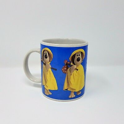 Vintage 1989 Official Wallace & Gromit Coffee Mug Claymation Gromit in Raincoat