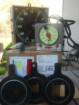 Vintage darkroom equipment-2 timers,3 neg carriers, neg brush, thermometer
