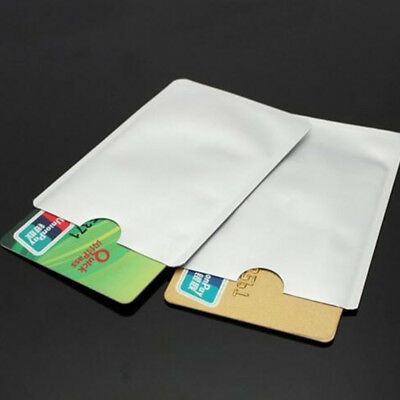 30x Aluminium Foil Protect For RFID Secure ID Credit Card Sleeves Blocking White