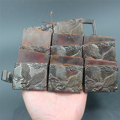 Chinese exquisite hard jade Jadeite hand-carved folk collection belt beauty AAA3