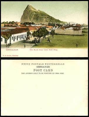 Gibraltar Old UB Colour Postcard The Rock from LINEA BULL RING Street Scene Cart
