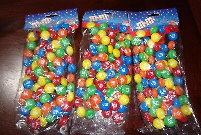 M&m's M&m Colored Holiday  Tree Garland  Lot Of 3 Brand New