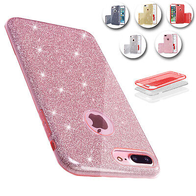 Hybrid Bling Glitter Shockproof Slim PC+TPU Case Cover For iPhone 6S 7 8 Plus/X