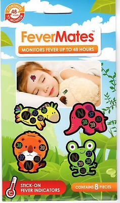 Fevermates Stick-On Fever Temperature Indicator Thermometer Stickers For Kids