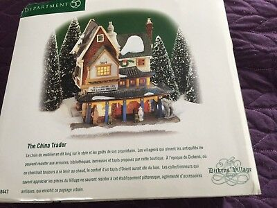 "Dept 56 Dickens' Village ""The China Trader"" #56.58447 - Retired w/light"