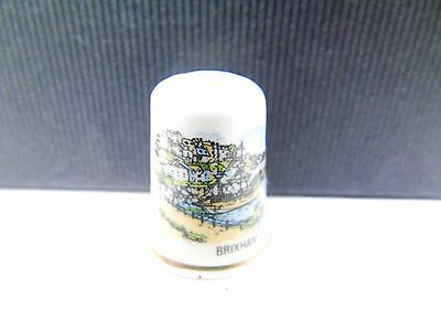 Vintage Brixham Tourist Pottery Retro Collectable Sewing Thimble