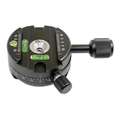 """360 Degree Panoramic Panning Head Clamp Standard 3/8"""" Threads QR Plate"""