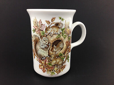 Vintage Squirrel & Baby Squirrels in Tree Nest Countryside Mug CHURCHILL England