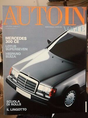 Auto und Motor in Vogue n°3 April 1988 mercedes 300 Lotus Super seven