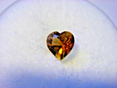 Citrine Heart Cut Gemstone 4 mm x 4 mm 0.25 carat Gem Yellow Stone