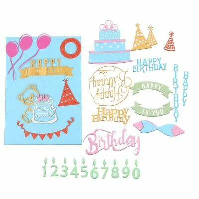 Happy Birthday Cutting Die Stencil Stamp Scrapbooking Embossing Card Paper Craft
